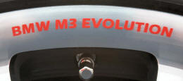 BMW M3 EVOLUTION Wheel Rim Decals by HighgateHouse