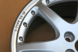 HighgateHouse Decals for Jaguar S-Type V6 SE Wheels