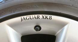 HighgateHouse Decals for Jaguar XK8 Wheels