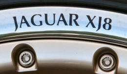 HighgateHouse Decals for Jaguar XJ8 Wheels