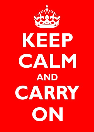 Humorour Decal Stickers by HighgateHouse - Keep Calm & Carry On