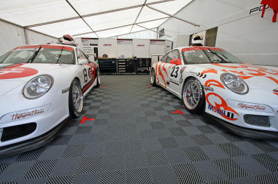 HighgateHouse Customer car - Robin Clark's Porsche 997 GT3 Cup car contesting the Carrera Cup GB