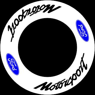 HighgateHouse Wheel Rim Decals - Ford Motorsport