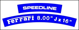 HighgateHouse Decals for Speedline Rims - Ferrari 288GTO