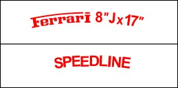 HighgateHouse Decals for Speedline Rims - Ferrari F-40